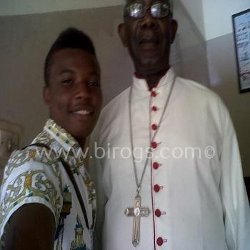 Emeka with Archbishop Felix Alaba Adeosin Job